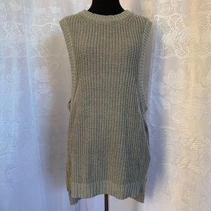 Silence+Noise Grey Knit Sleeveless Sweater Vest M